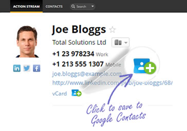 Create contacts in google contacts in just one click